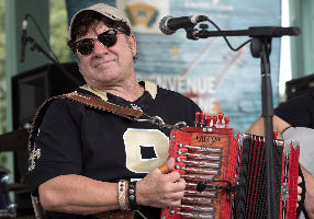 Accordionist Wayne Toups; The Band Courtbouillon featuring Wayne Toups, Steve Riley, and Wilson Savoy